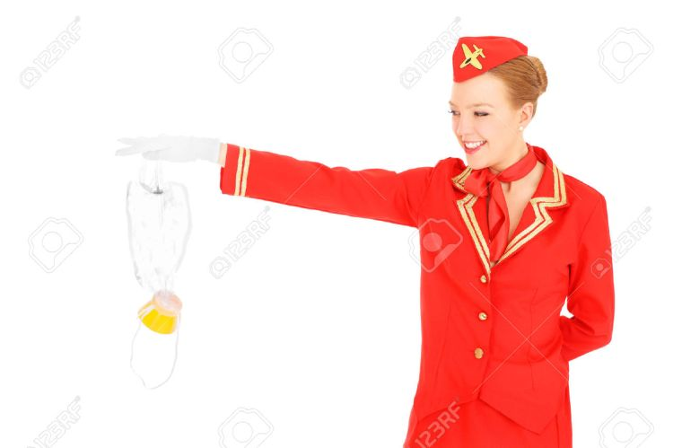 25227411-A-picture-of-an-attractive-stewardess-presenting-an-oxygen-mask-over-white-background-Stock-Photo